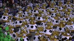 Rio Carnival football - stock footage