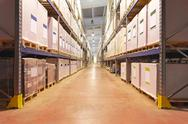 Stock Photo of distribution warehouse