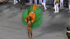 Brazilian Dancer on The Rio Carnival Stock Footage