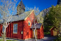 Old wooden church - stock photo