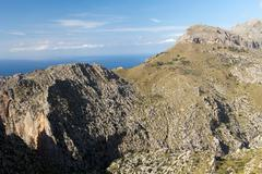 serra de tramuntana - mountains on mallorca, spain - stock photo