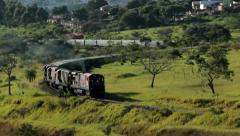 Train Passing By Stock Footage