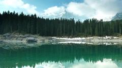Mountain lake time lapse Stock Footage