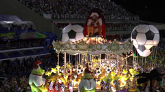 Football stage at the Rio carnival - stock footage