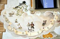 Sundial in Austrian Tyrol Stock Photos