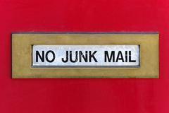 Junk mail slot Stock Photos