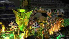 Football Exponent on the Rio Carnival Stock Footage