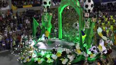 Rio Carnival Football Worship Stock Footage