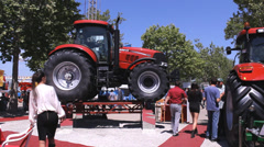 Exhibition Tractor fair, timelapse Stock Footage