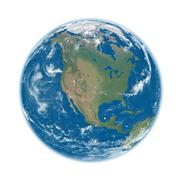 North America on blue Earth - stock photo