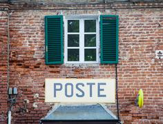Italian postal office Stock Photos