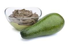 Guacamole with avocado Stock Photos