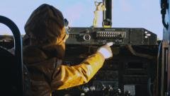 Young Boy Flying Old WWII Plane - stock footage