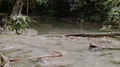 Thailand Erawan National Park river Stock Footage