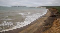 Compton bay near Freshwater Isle of Wight Stock Footage