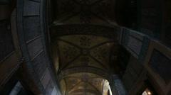 Tourist Visiting Historic Famous Monument Hagia Sophia Interior Shot 10 Stock Footage