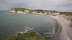 Freshwater Bay beach Isle of Wight Stock Footage