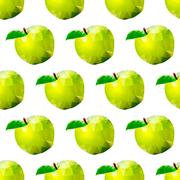 Abstract seamless background with apples Stock Illustration