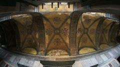 Tourist Visiting Historic Famous Monument Hagia Sophia Interior Shot 11 Stock Footage