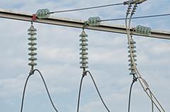 High-voltage wire Stock Photos