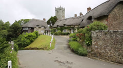 Godshill village Isle of Wight tourist attraction Stock Footage