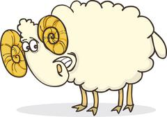 happy ram - stock illustration