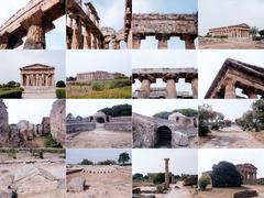Paestum landmarks, Italy - stock photo