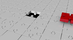 Missing puzzle piece concept episode 1 Stock Footage