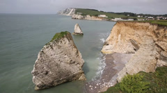 Freshwater Bay coast Isle of Wight in the south west  of this English island Stock Footage