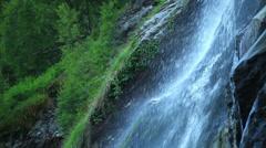 Powerscourt waterfall in Ireland Stock Footage