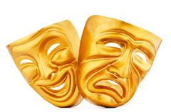 Masks with the theatre concept Stock Photos