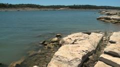 Lake Travis low water - stock footage