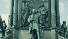 Austria Vienna Maria-Theresa Monument Stock Footage