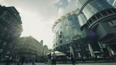 Austria Vienna Stephansplatz Square Stock Footage