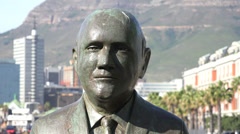 Nobel Square, close up of FW de Klerk statue Stock Footage