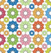 Stock Illustration of colorfully flowers pattern