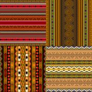Decorative African patterns - stock illustration