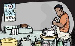 Baker Stock Illustration