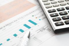 Financial concept: analyzing. - stock photo