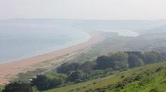 Beach and hillside, Slapton Sands. Stock Footage