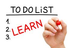 learn to do list - stock illustration