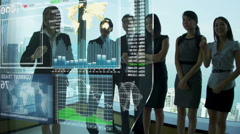 World Banking Forecast 3D Asian Chinese Oriental Group International Trade CG - stock footage