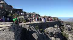 Viewpoint and cafe at the top of Table Mountain Stock Footage