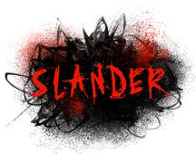 slander typography illustration - stock illustration