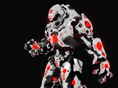 Battle robot Stock Illustration