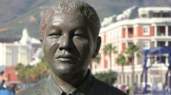 Nobel Square, Nelson Mandela statue Stock Footage