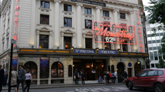 St Martin's Theatre's Famous The Mousetrap, London Stock Footage