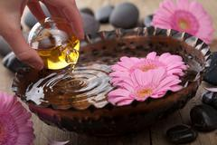 Essential oil for aromatherapy Stock Photos