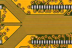 Yellow circuit board - stock photo