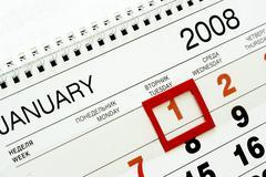 1-st January 2008 Stock Photos